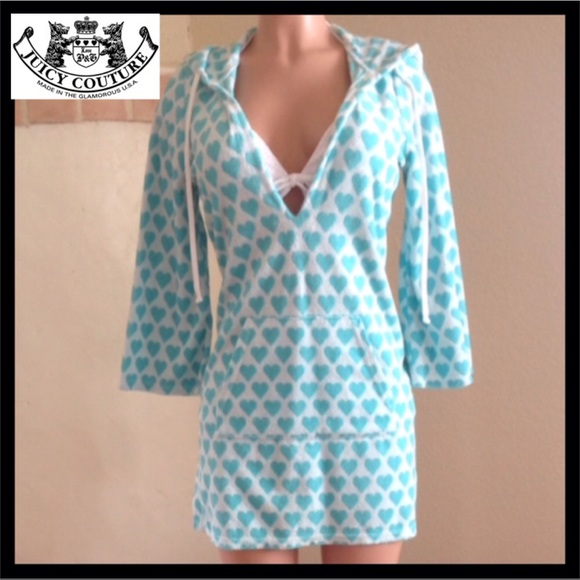 0871a7c595 Juicy Couture Other - NWOT Juicy Couture Hooded Swim Coverup Dress